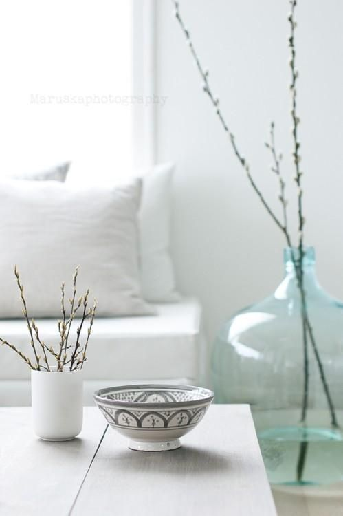Furniture:Sweet Living Room Decorating With White Sofa And Pillows And Willow Vase And White Interior Wall Spring Calls Home with Wonderful ...