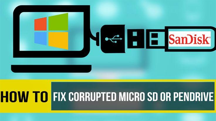 How to repair corrupted memory cardusb pen drive memory
