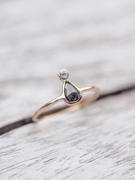 Twyn // Double Rose Cut Diamond Ring