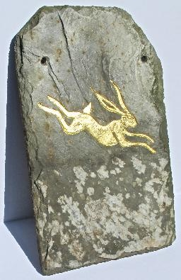 Thomas Appleton Golden Hare, on Cornish Slate http://www.thosworks.com/