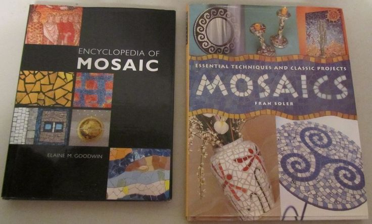 Lot of 2 Mosaics Books:Essential Tech. & Classic Mosaic & Encyclopedia of Mosaic