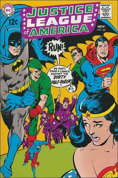 Justice League comic book cover 1960