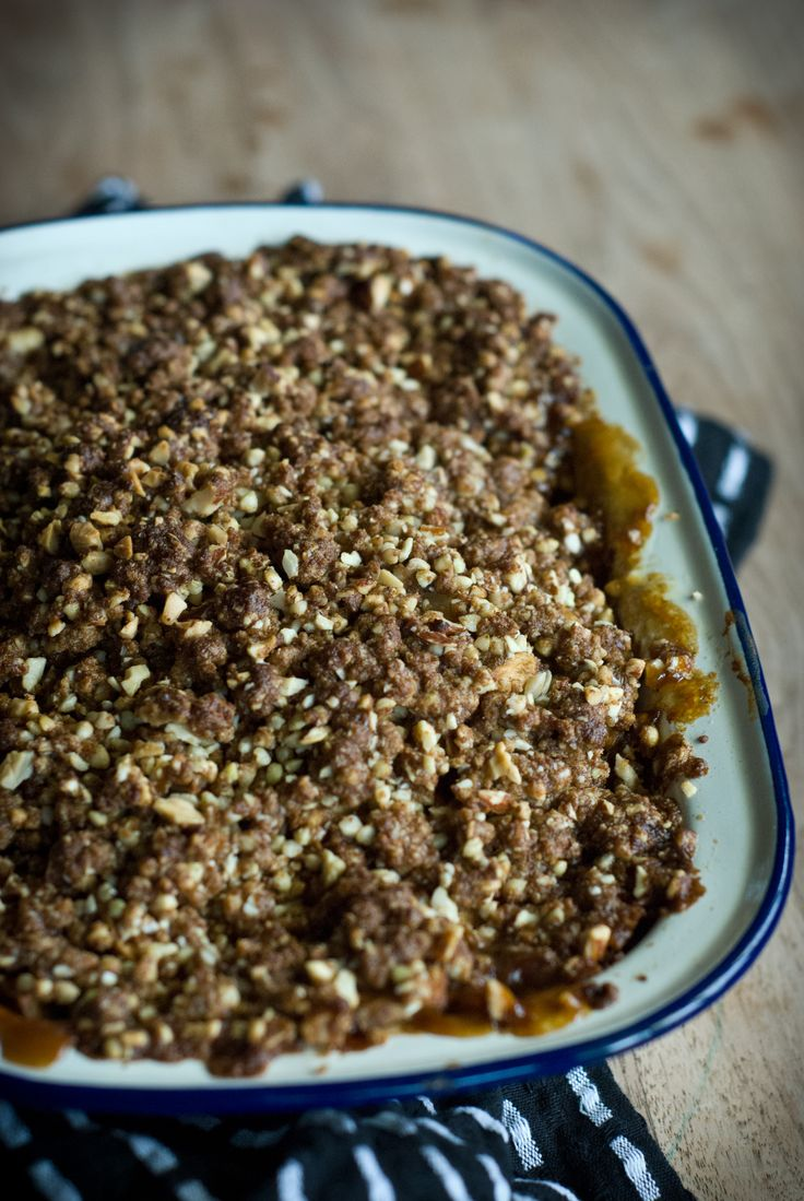 Spiced Apple Feijoa Crumble - Oat Free Rusty Skillet Blog