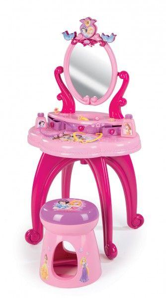 SMOBY 24232 Princezná kozmetický stolík 2v1 so stoličkou s 10 doplnkami