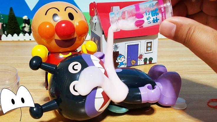 アンパンマン アニメテレビ ガチャガチャでコロコロ いちご牛乳スライムでバイキンマン大変だ!Miniature Toys