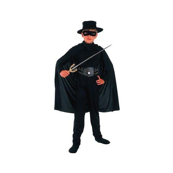 Compleet Zorro kostuum voor kinderen. Dit Zorro kostuum voor kinderen bestaat uit een shirt, broek, riem, masker, cape en hoed. Carnavalskleding 2015 #carnaval