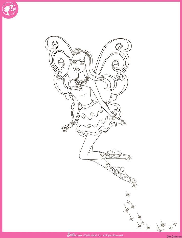 Раскраска Фейский полет Барби распечатать или скачать ...
