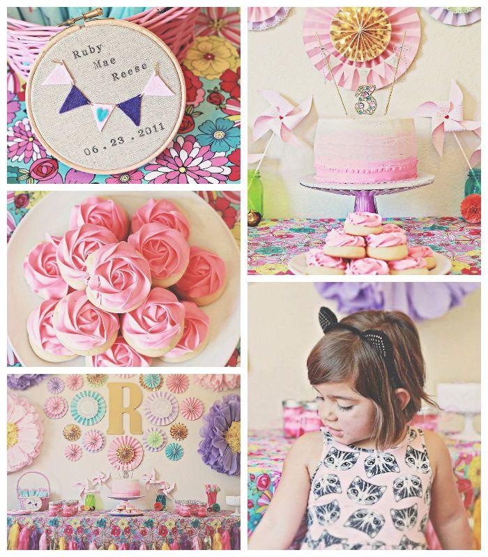 Vintage Kitten themed birthday party via Kara's Party Ideas KarasPartyIdeas.com Printables, favors, cake, cupcakes, decor, invitation, suppl...
