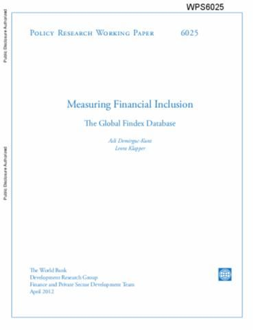 Measuring Financial Inclusion : The Global Findex Database