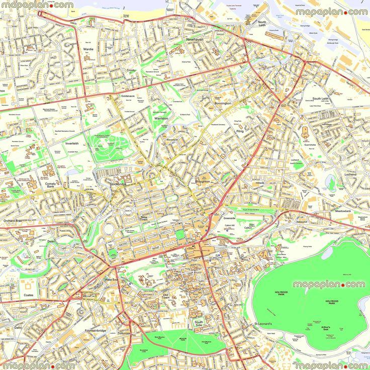 1000 images about Edinburgh printable map of top tourist – Edinburgh City Map Tourist