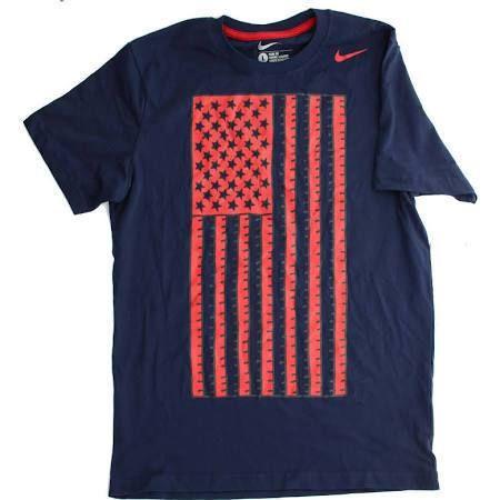 Nike XXL (2XL) USA Soccer Flag Core T-Shirt Slim Fit Tee 614405