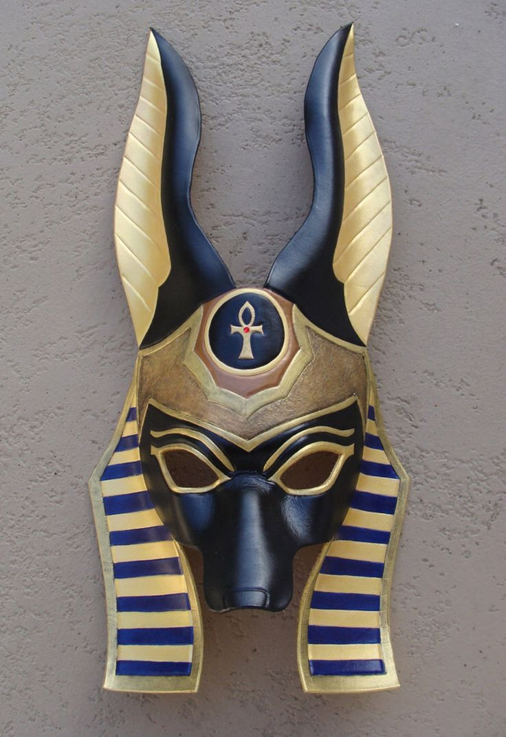 Egyptian Anubis Leather Mask by b3designsllc on @DeviantArt