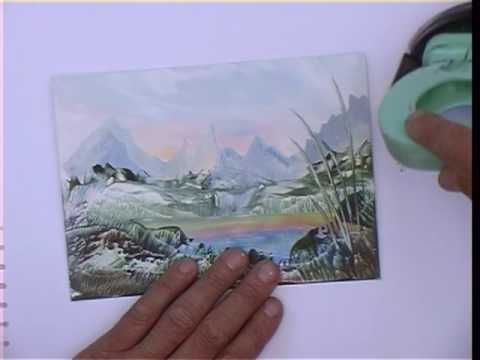 Working on bigger card sizes needs some adaption and changes from the simpler small postcard sized cards. This short program shows a progression of sizes being created as landscape subjects, but the ideas they contain also apply to other subjects on bigger card stock. Learn about mountain forms, a lake, foxgloves and a stream too.