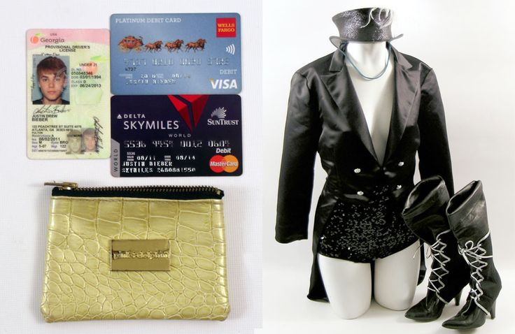 Leilão com cartões de crédito do Bieber, roupas da Britney, garras do Wolverine, fotos do MJ…