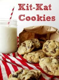 Kit Kat Cookies on MyRecipeMagic.com. These are so easy and full of delicious Kit Kat bars!