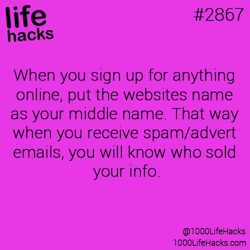 life hack: put websites name as middle name so you know who sold your information.