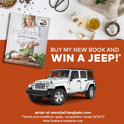 Buy my new book Essential, and you could win a Jeep Wrangler!! (Only available in NZ)