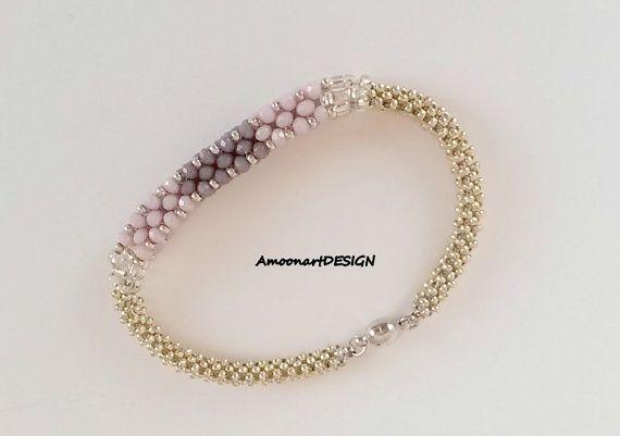 Modern Minimalist Bracelet  Handmade Sparkle by AmoonartDESIGN