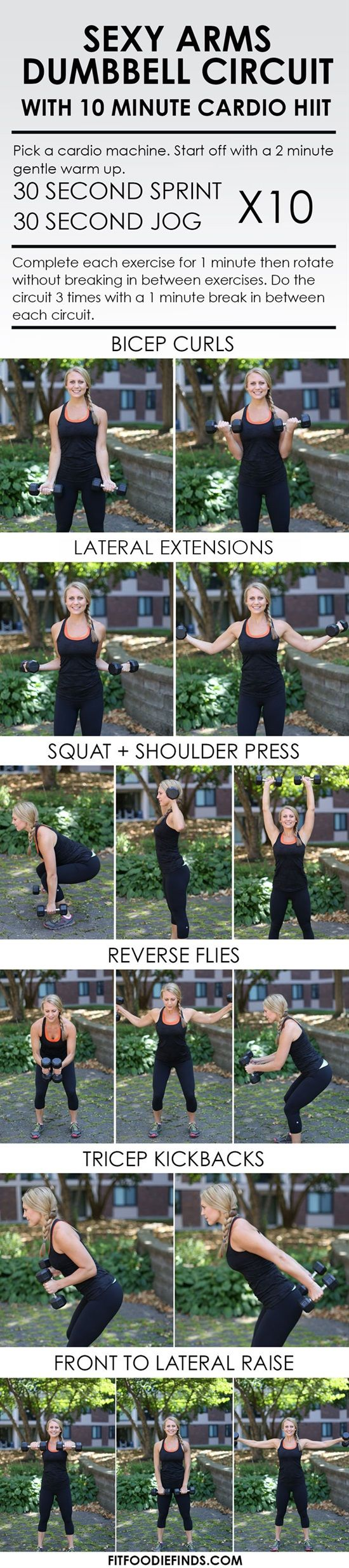 10-Minute Sexy Arms Dumbbell Circuit Workout