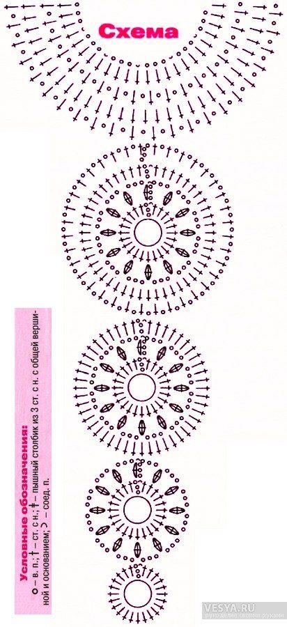 индийское украшение схема вязания