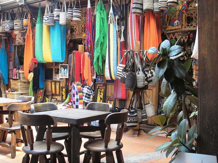 Colourful stalls, Bogota, Colombia