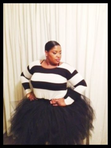 The Blogs Made Me Do It: D.I.Y. Plus Size Tulle Skirt
