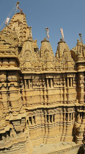 Jain temple Jaisalmer, Rajasthan Visit our site at www.mangalamtours.net for tour packages. Call +91 11 4618 4618 or visit site www.mangalamtours.net or email at toursmangalam@gmail.com.