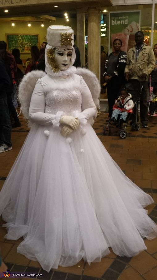 Venetian Angel Ghost Bride Costume