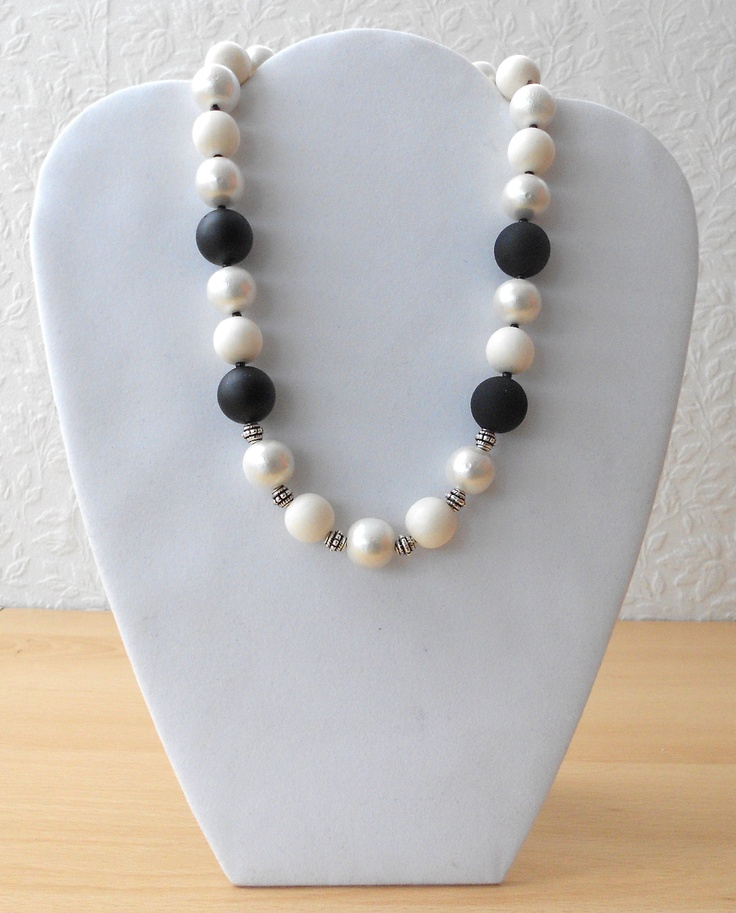 Black and white necklace.