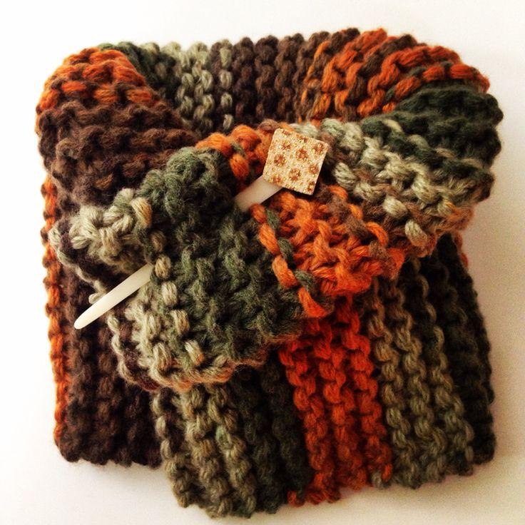 Otro cuello tejido con lana Bero, muy gruesa para el frío