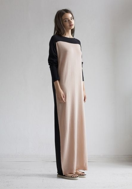 Dress Mime Combo Soft Peach & Black by Rodebjer