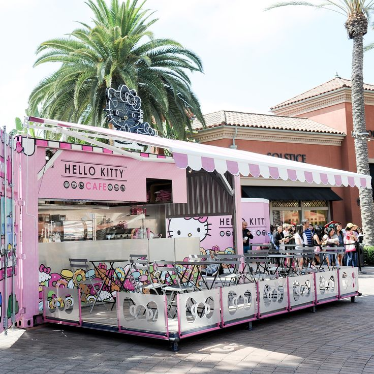 Hello Kitty Cafe the pop-up, which opened last Friday, July 15 in California   will be operating at Irvine Spectrum's Big Wheel Court for a year, serving the cutest, kitty-themed treats, sodas…