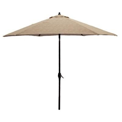 Aluminum Patio Umbrella in Roux Palm The Home Depot