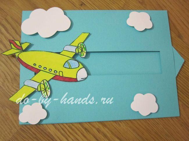 Объемная открытка самолет шаблон, суши