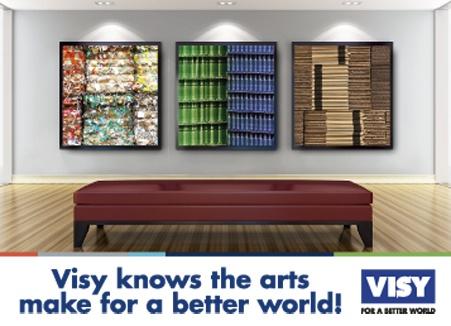 Magazine advert designed for VISY