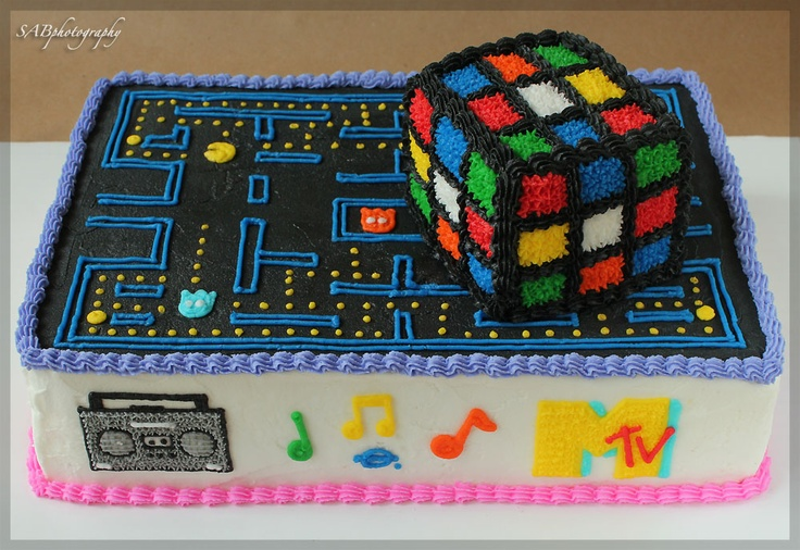 80 39 s themed cake cake ideas pinterest 80 s cake and for 80s cake decoration ideas