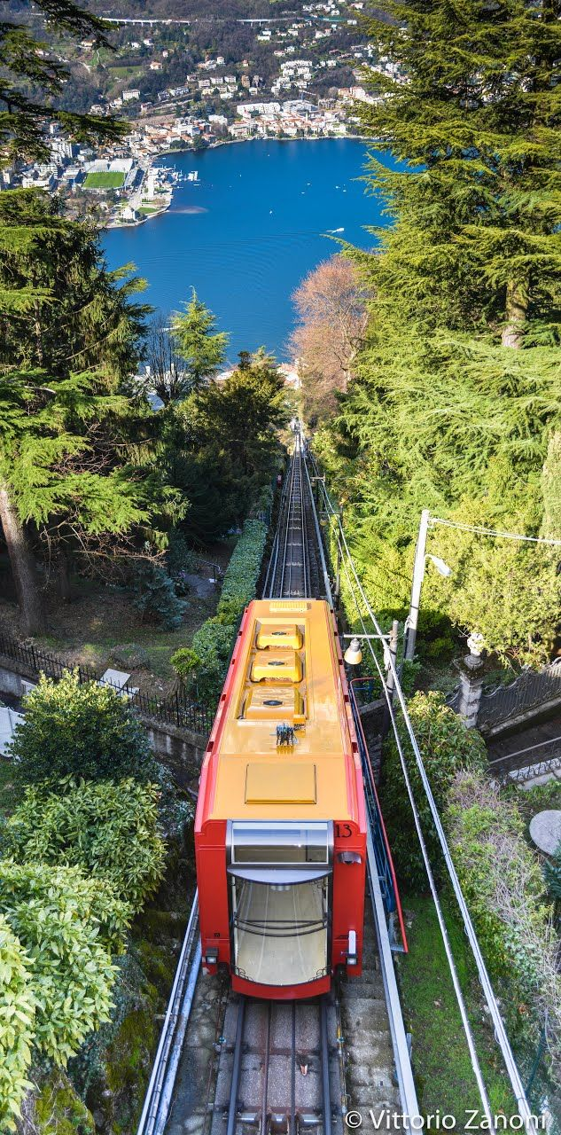 The Como–Brunate funicular connects the city of Como with the village of Brunate in Lombardy, Italy. The line has operated since 1894, and is used by both tourists and local residents. The funicular was opened in 1894 and was originally operated using a steam engine. The line is 1,084 metres long, of which the lower 130 metres are in tunnel. The remainder is in the open, with extensive views over the lake and city. There are two intermediate stops, served on request. #BnBGenius…