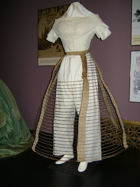 "Steel cage crinoline, ca. 1856. Check out Stlmag.com's ""Look/Listen"" article on the Underneath It All exhibit."