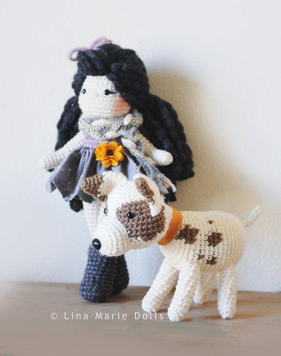 Crochet Doll, Fall inspired attire, Long dark hair ~ Ready to ship