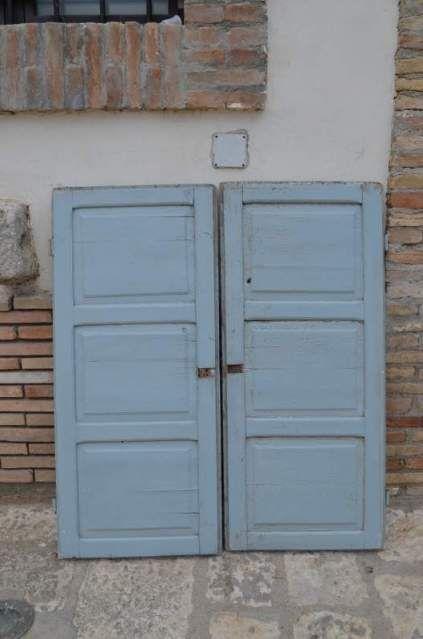 2 antiche ante in legno per finestra armadio a muro ...
