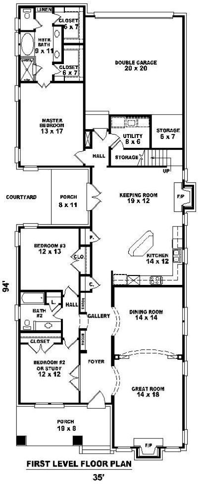Best 25 shotgun house ideas that you will like on for Creole cottage floor plan