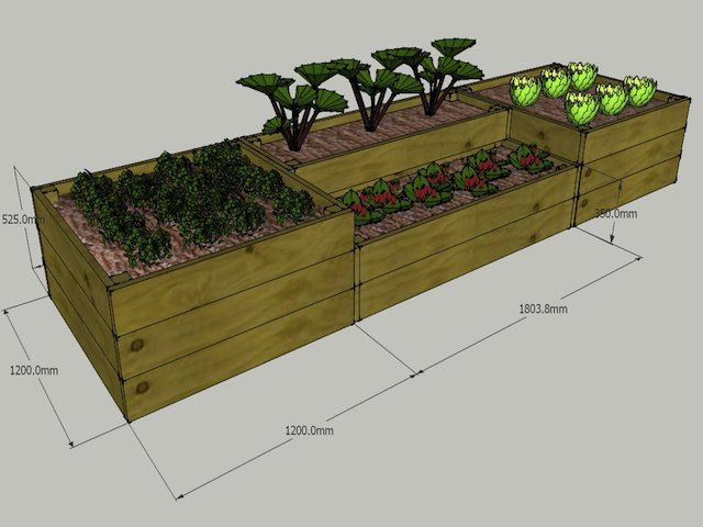 2 tier Urban Garden Raised Bed Kit