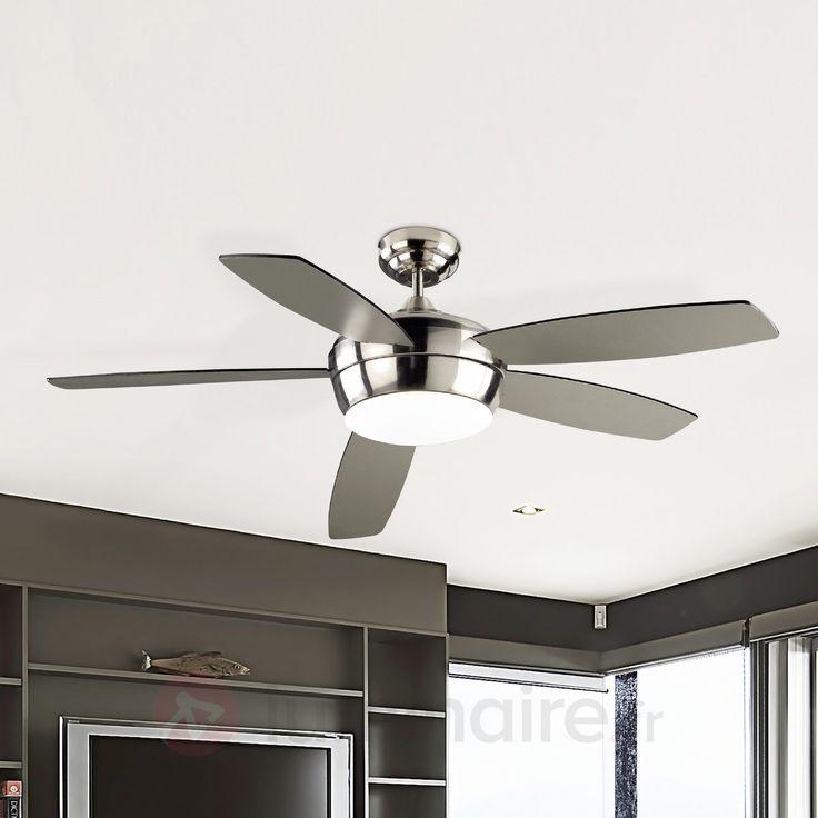 Ventilateur de plafond SAMAL avec télécommande, référence 6026191 - Ventilateurs de plafond ou à poser chez Luminaire.fr !