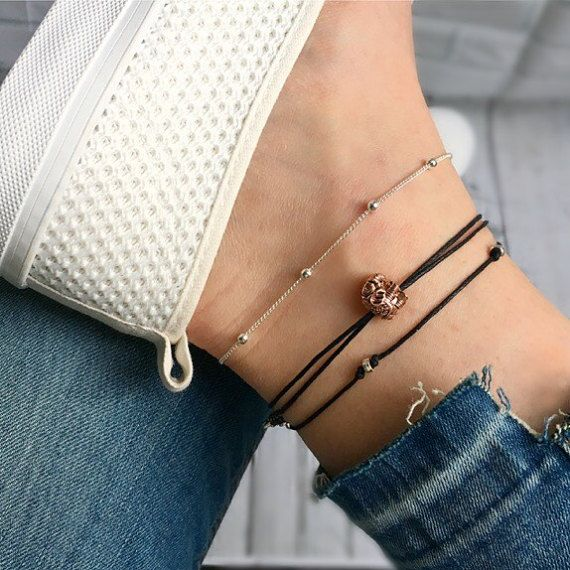 bracelet anklet in fullxfull doho original il gold handmade ribbon jewelry products anklets