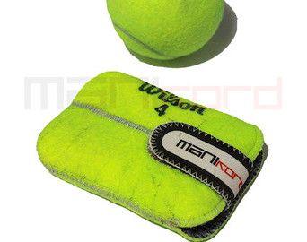 Handgemaakte gerecycleerd Tennis bal Mini tas / door MANIkordstudio