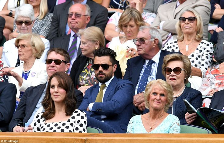 Actor Dominic Cooper, star of Mamma Mia and Captain America, sat behind the Duchess in the...