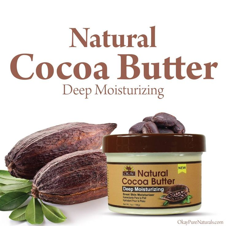 OKAY® 100% Natural Cocoa Butter is easily absorbed while making the skin soft and moisturized. Help treat and prevent stretch marks while maintaining skin protected and hydrated. This Natural Cocoa Butter is especially excellent for treatment of belly stretch marks on pregnant women. You can find our products at OkayPureNaturals.com #okay #okaypurenaturals #purenaturals #purenatural #cocoa #butter #cocoabutter #absorbed #treats #prevents #treatment #hydrate #protect #excellent #skin…