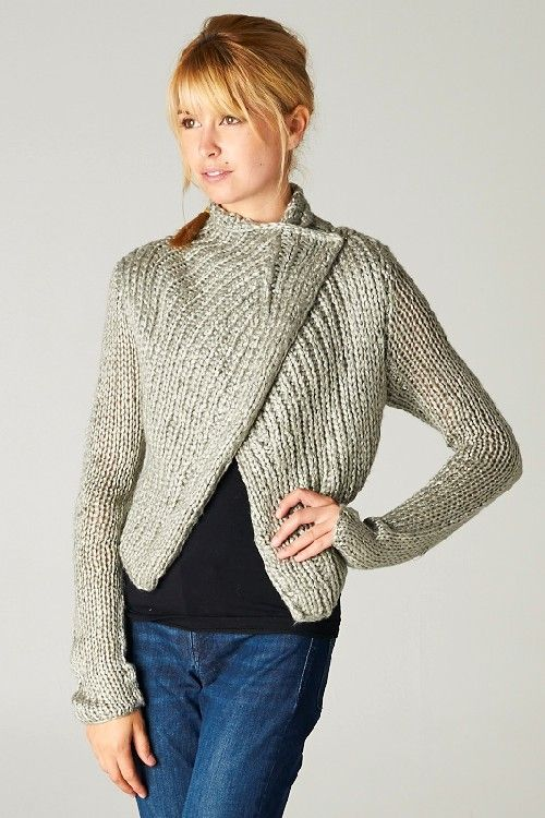 Machella Knit Sweater in Warm Ashen | Awesome Selection of Chic Fashion Jewelry | Emma Stine Limited