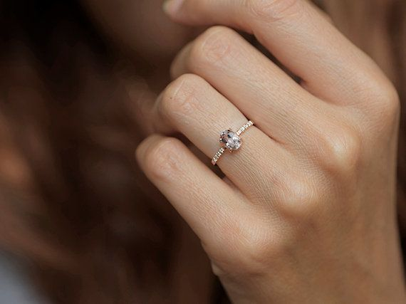 It's so simply. I love it!  Morganite Ring Diamond Morganite Ring Morganite by MinimalVS $950.00