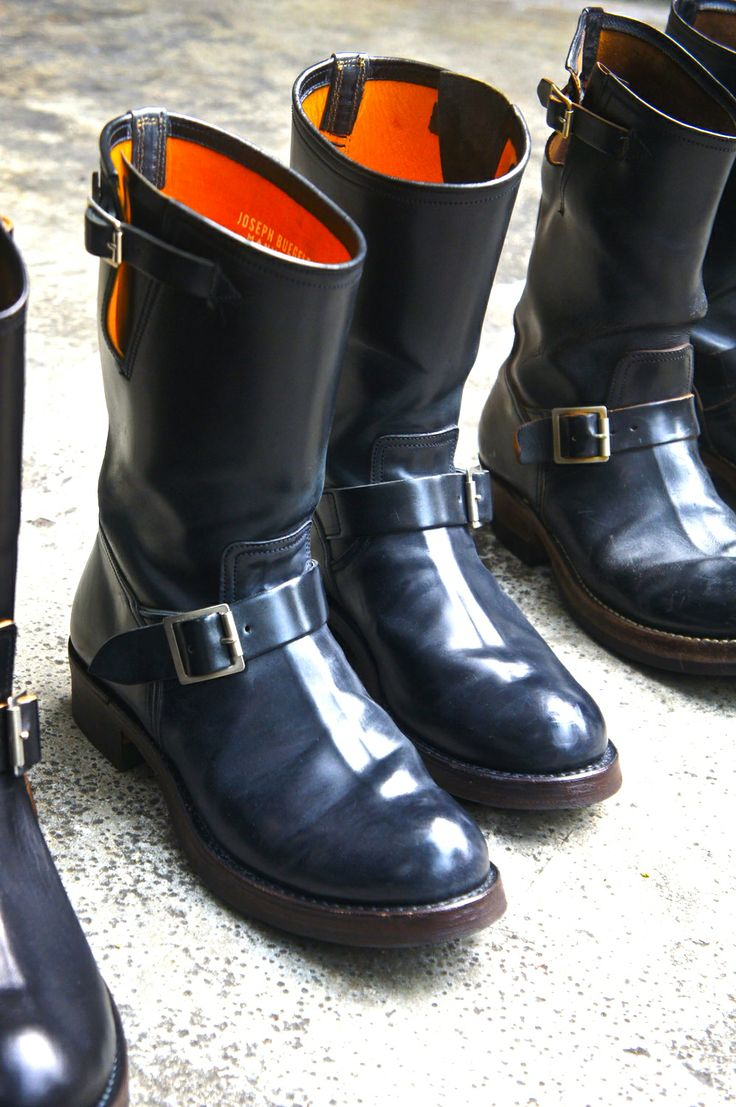 buco horsehide cordovan engineer boots.  Yes please #